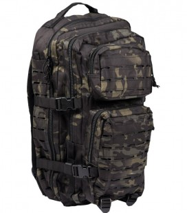 ASSAULT PACK LASER CUT MULTI TARN BLACK RUGZAK