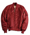MA- 1 VF 59 WOMENS FLIGHT JACKET  / BOMBER BURGUNDY ALPHA INDUSTRIES