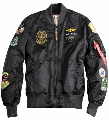 MA1 PILOT  FLIGHTJACKET-BOMBER ALPHA INDUSTRIES ZWART