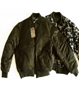 FLIGHT JACKET RESERSIBLE OLIVE/CAMO