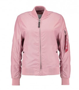 WOMANS  MA - 1 TT  SILVER PINK ALPHA INDUSTRIES  ZOMER /FLIGHT JACKET/BOMBER
