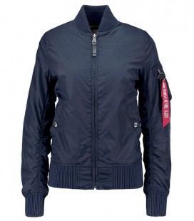 WOMANS  MA - 1 TT REP BLUE ALPHA INDUSTRIES  ZOMER /FLIGHT JACKET/BOMBER