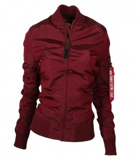 WOMANS  MA - 1 TT BURGUNDY ALPHA INDUSTRIES  ZOMER /FLIGHT JACKET/BOMBER